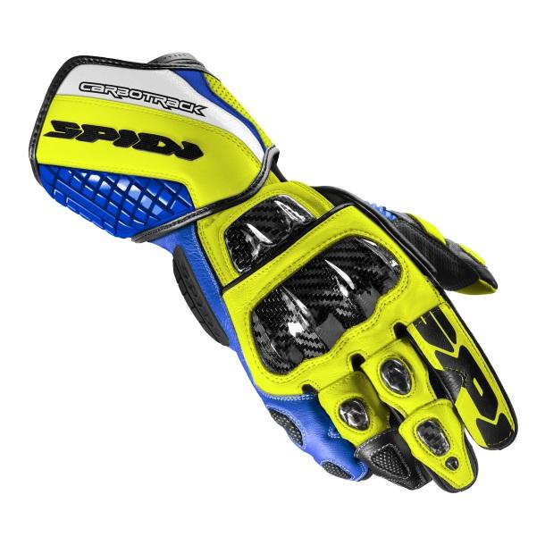 Spidi Carbo Track Evo Blue Yellow  L