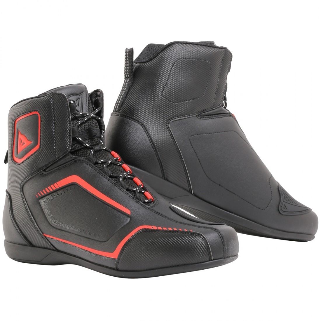 Dainese Raptors D-WP Black Black Fluo Red  45