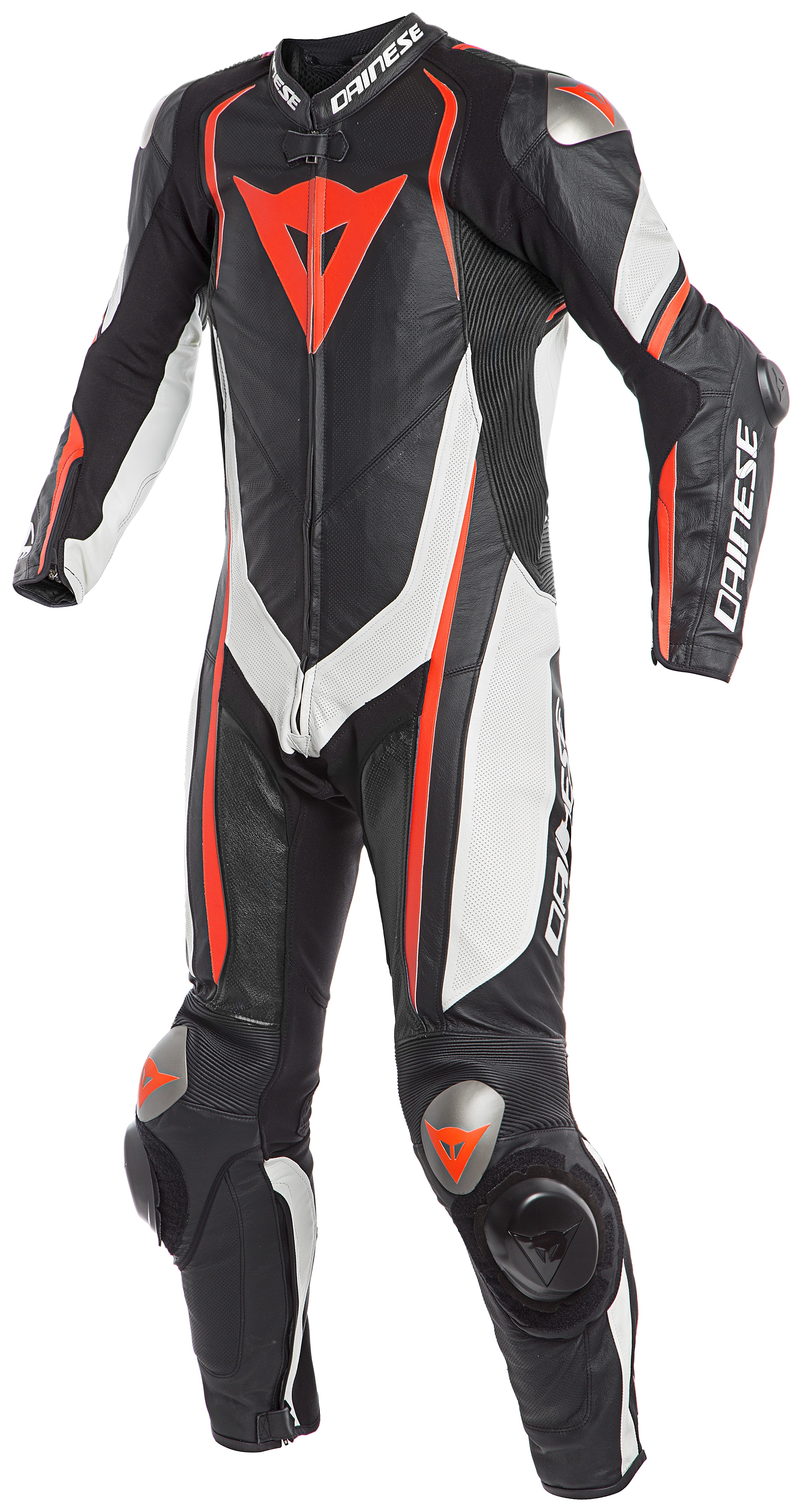 Dainese Kyalami 1PC Perf. Black White Fluo Red 48