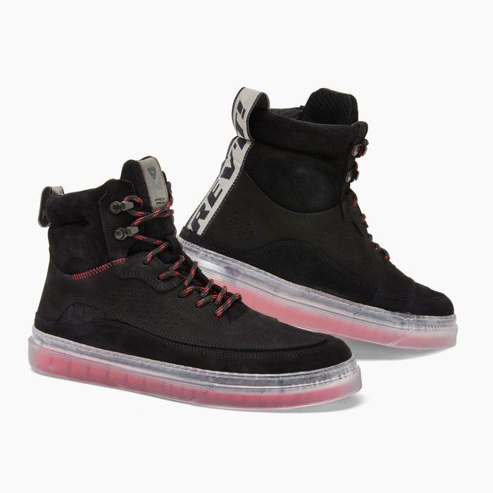 REV'IT! Filter Chaussures Moto Noir Rouge Fluo 47