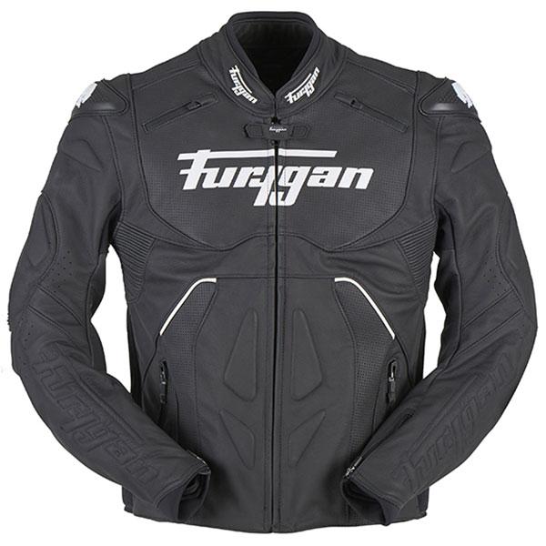 Furygan Raptor Evo Veste De Moto En Cuir Noir Blanc 3XL