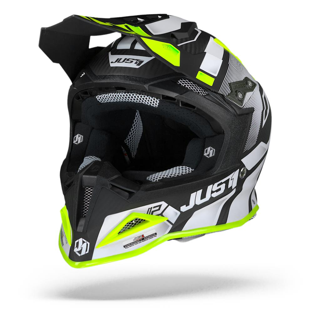 Just1 J12 Pro Vector White Yellow Fluo Carbon L