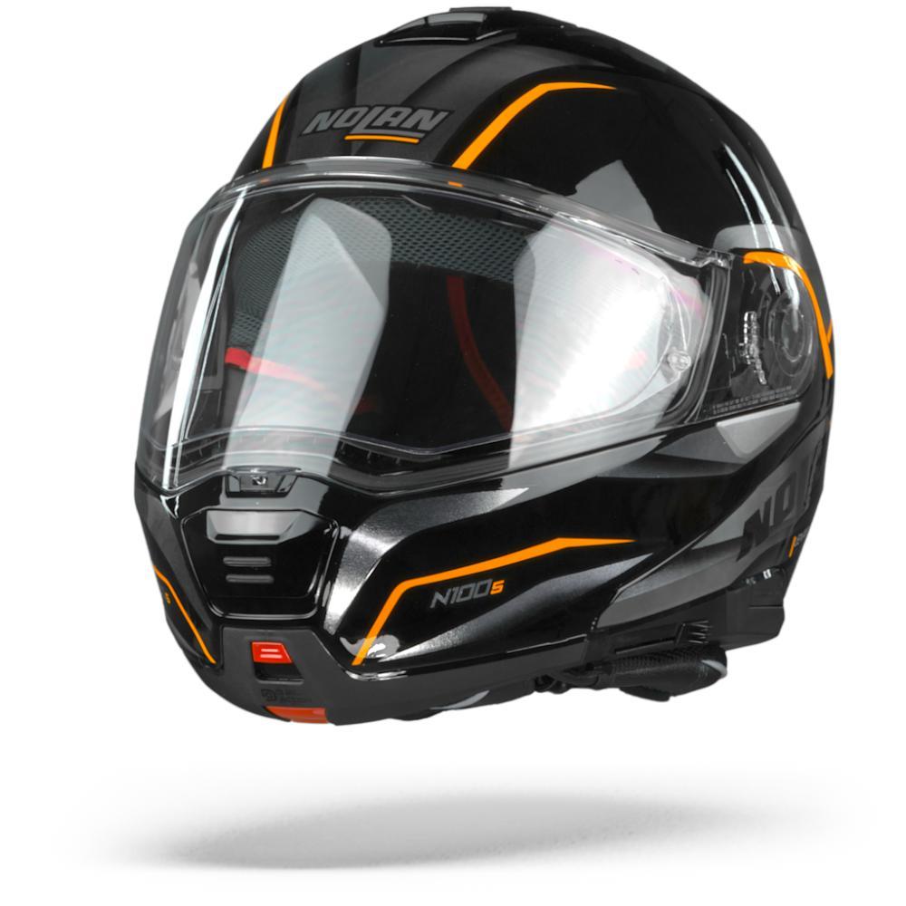 Nolan N100-5 Balteus 44 Glossy Black Orange  S