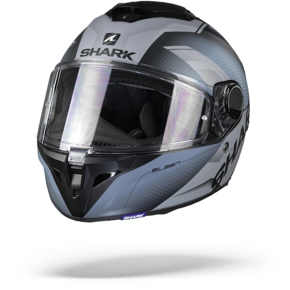 Shark Spartan GT Elgen KSS Matt Black Silver Silver  XL