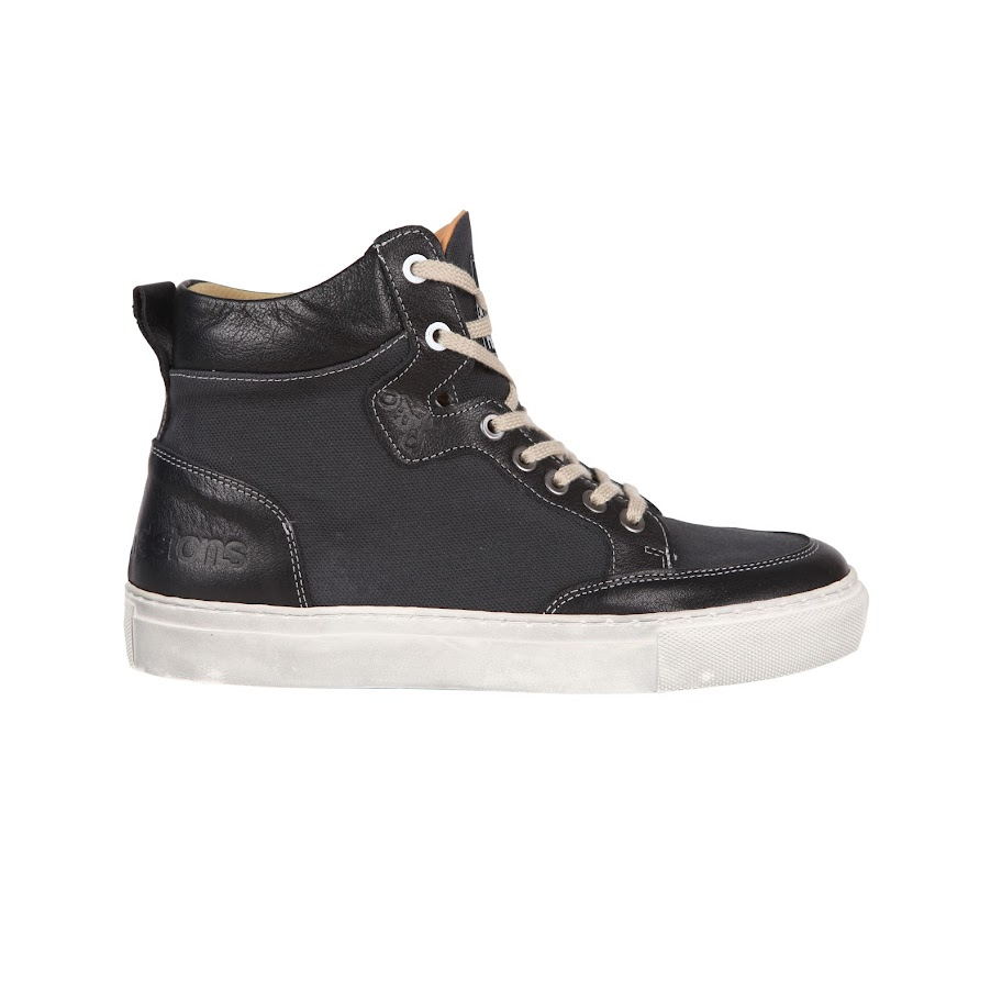 Helstons Kobe Canvas Armalith Leather Grey Black Shoes 44