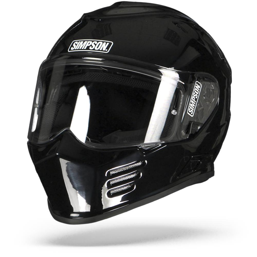 Simpson Venom Solid Black Metal 2XL