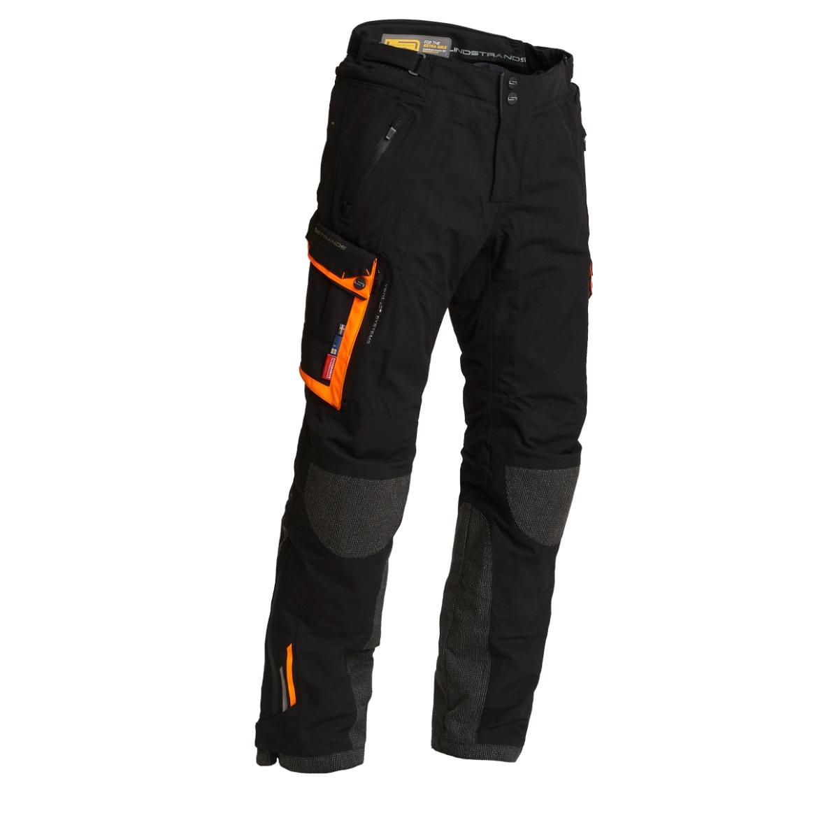 Lindstrands Textile Pants Sunne Black Orange 52